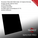 Ray Masters MS100PRO Square ND Camera Filter, 100x100mm, Solid, 10 stops, Optical Glass